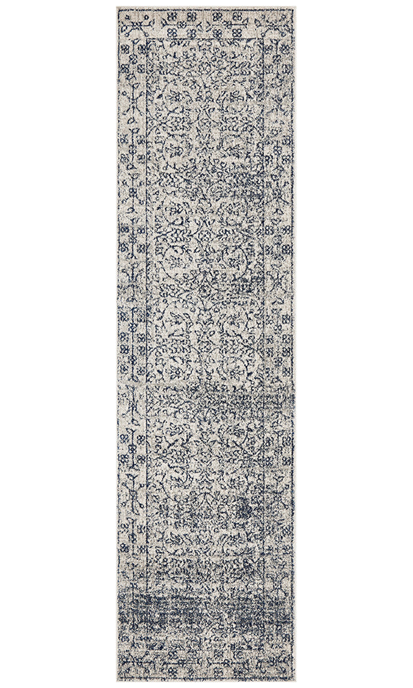 Evoke Whisper White Transitional Runner Rug