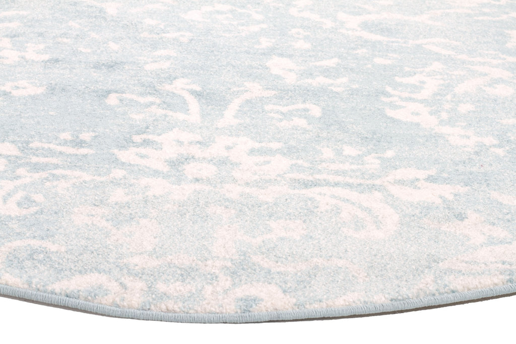 Evoke Skyline Blue Transitional Round Rug