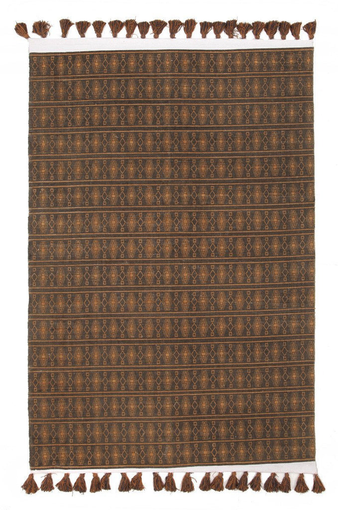 Gypsy Ginger Cotton Printed Reversible Gold Rug