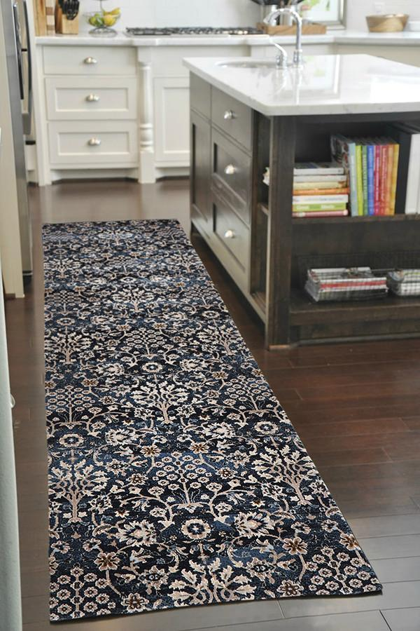 Heirloom Morris Imperial Blue Runner Rug
