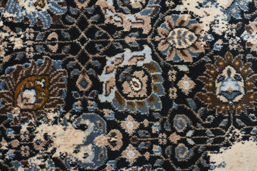 Heirloom Rembrandt Designer Ivory Blue Rug