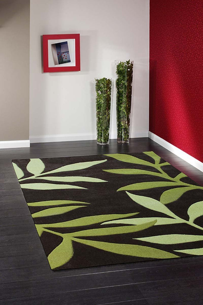 Gold Collection 617 Green Rug