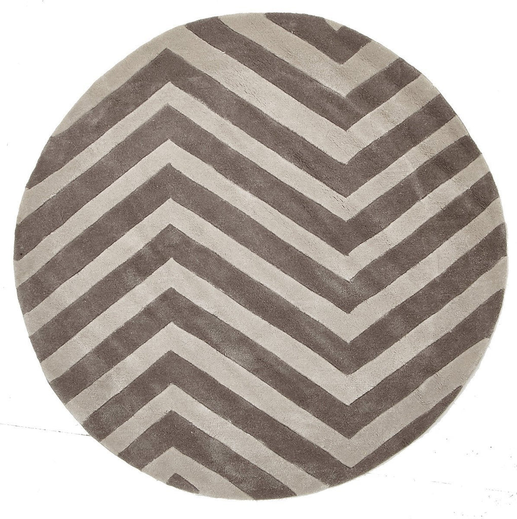 Gold Collection 622 Beige Round Rug