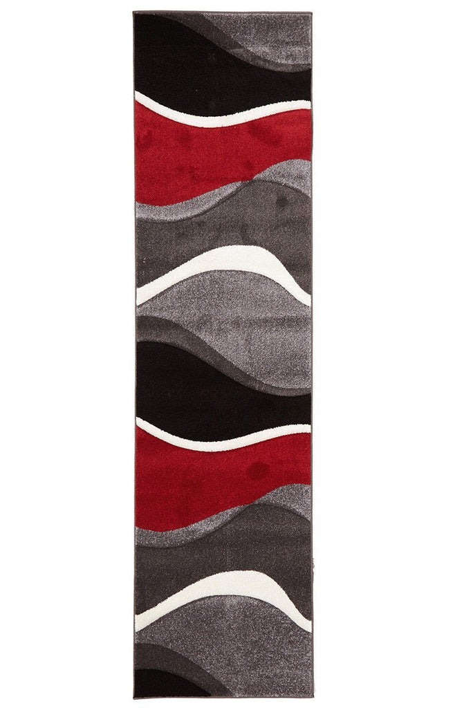 Icon Subtle Waves Rug Red