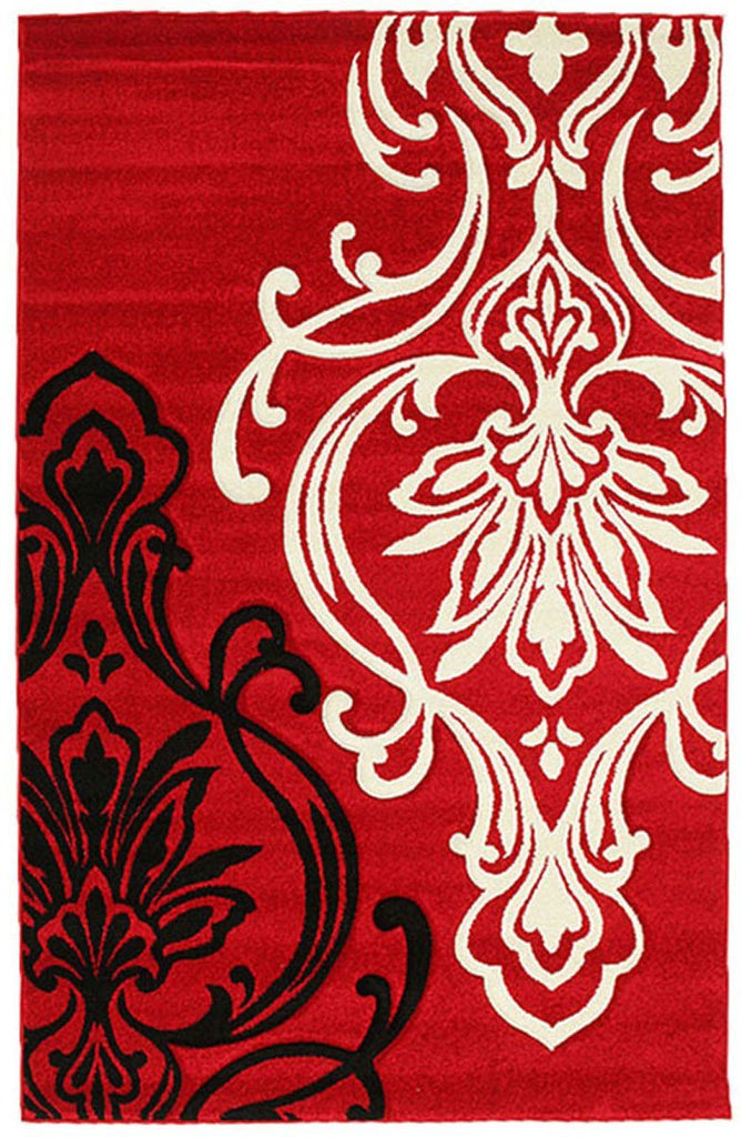 Icon Stunning Thick Designer Rug Red