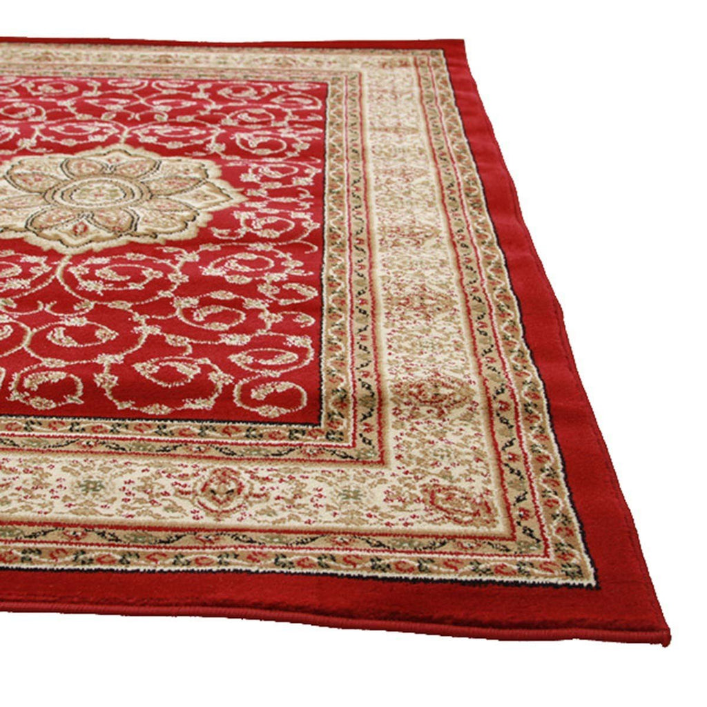 Istanbul Medallion Classic Pattern Runner Rug Red