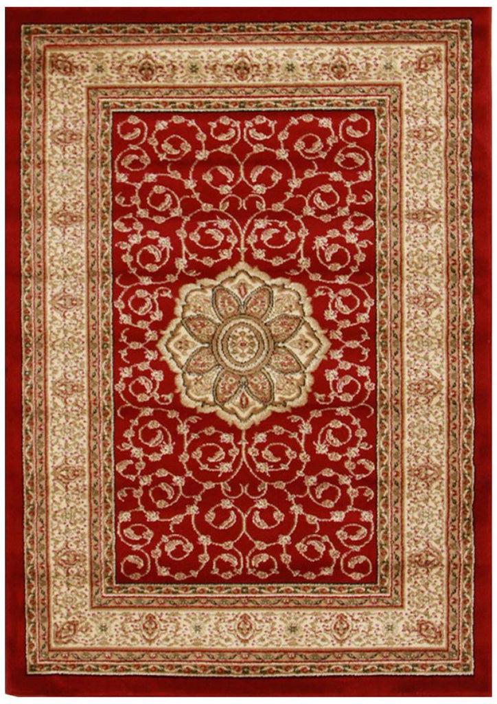 Istanbul Collection Medallion Classic Pattern Red Rug