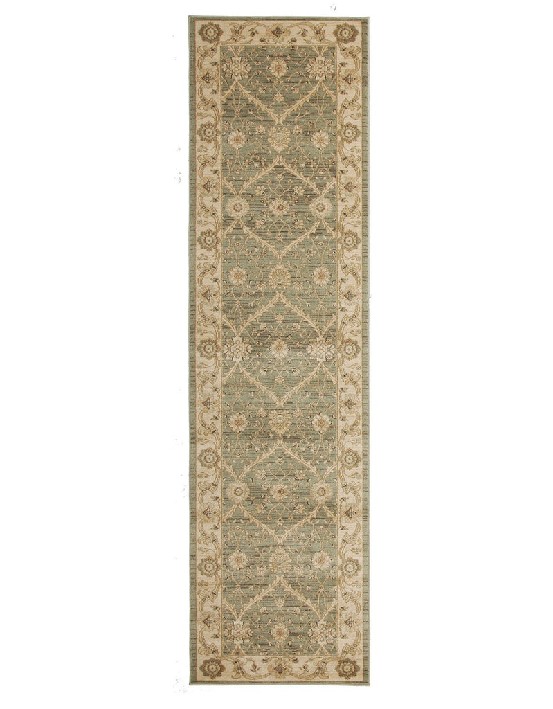 Jewel Chobi Design 800 Light Green Bone Rug