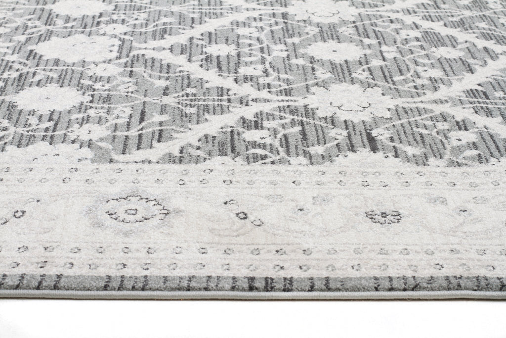 Jewel Chobi Design 800 Navy Grey Bone Runner Rug