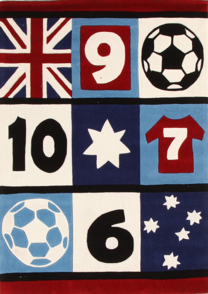 Awesome Soccer, Southern Cross Rug Blue