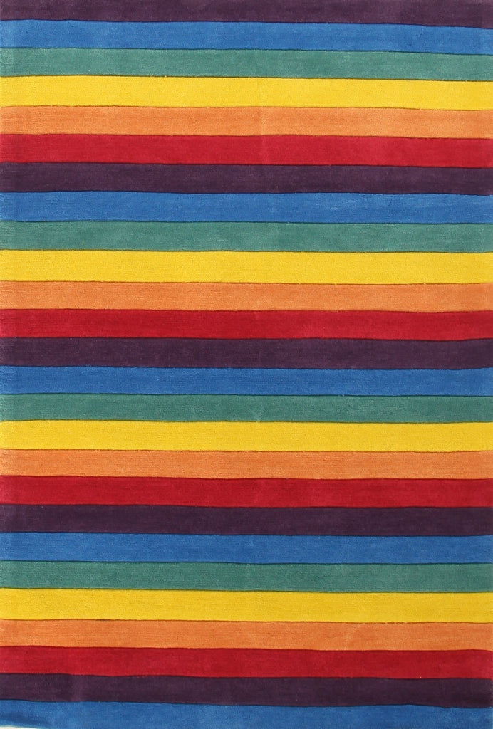 Beautiful Stripped Rainbow Kids Rugs