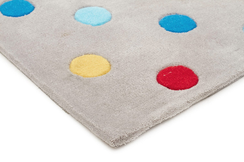 Kids Dots Design Rug Grey