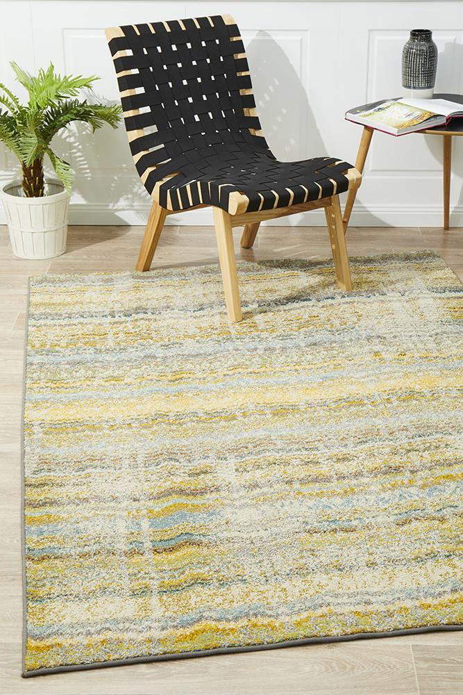 Kaleidoscope Stunning Monet Inspired Yellow Rug