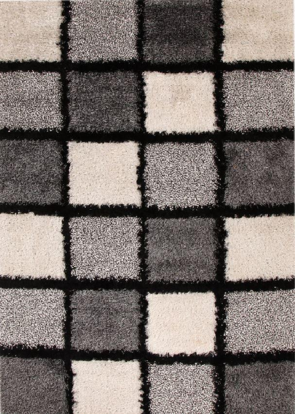 Luxor Collection Fus Black And White Rug
