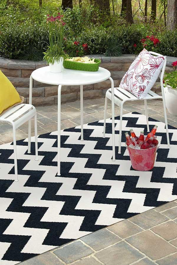 Marquee Indoor Outdoor 305 Navy Rug