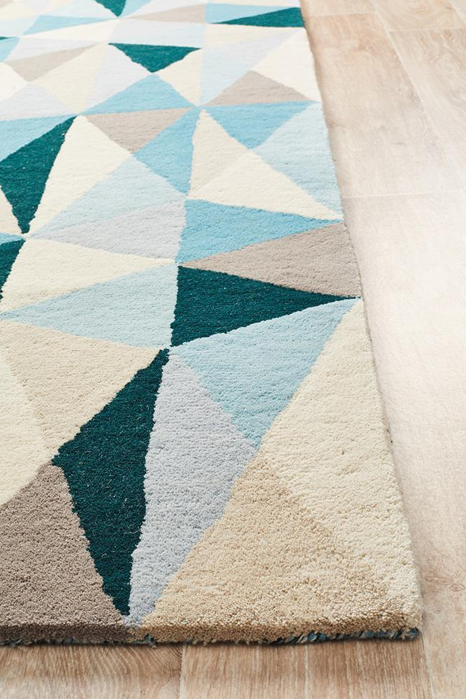 Matrix Pure Wool Turquoise Rug