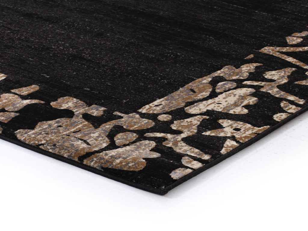 Mystique Collection Heritage Charcoal Black Rug