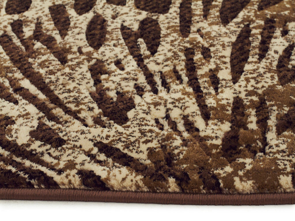 Mystique Collection Splash Design Brown Rug