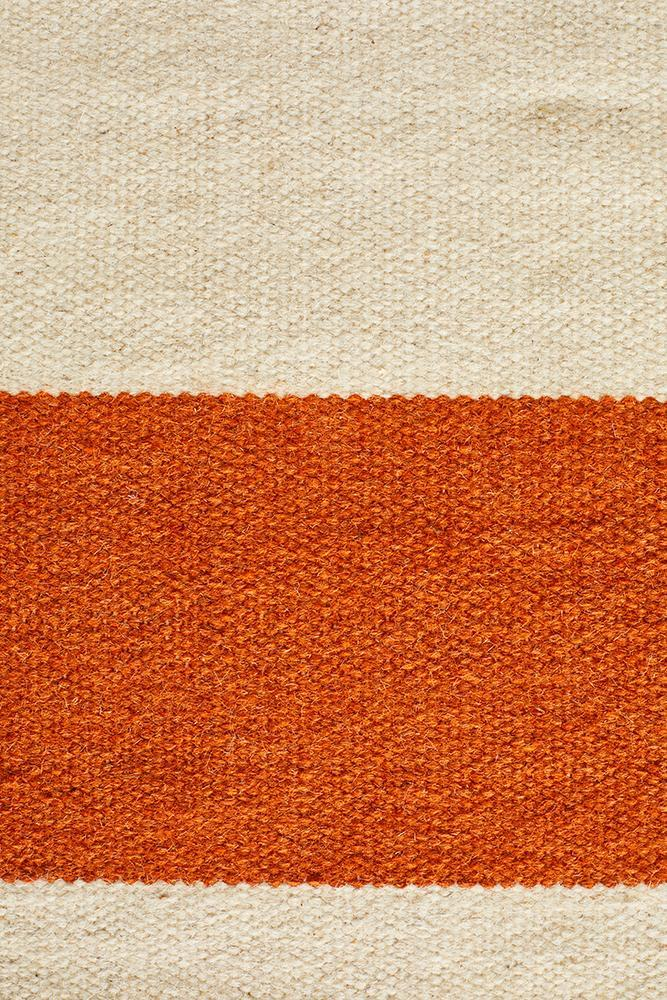 Nomad Pure Wool Flatweave 16 Orange Rug