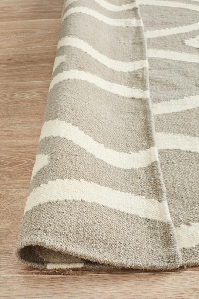Nomad Pure Wool Flatweave 20 Grey Runner