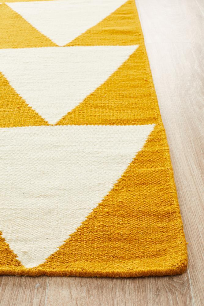 Nomad Pure Wool Flatweave 26 Yellow Runner