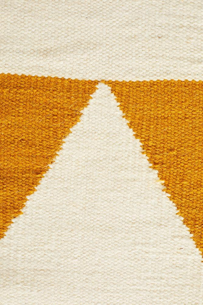 Nomad Pure Wool Flatweave 26 Yellow Rug