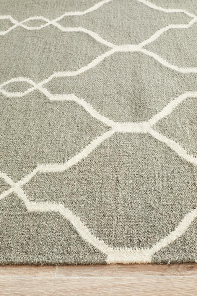 Nomad Pure Wool Flatweave 27 Grey Runner