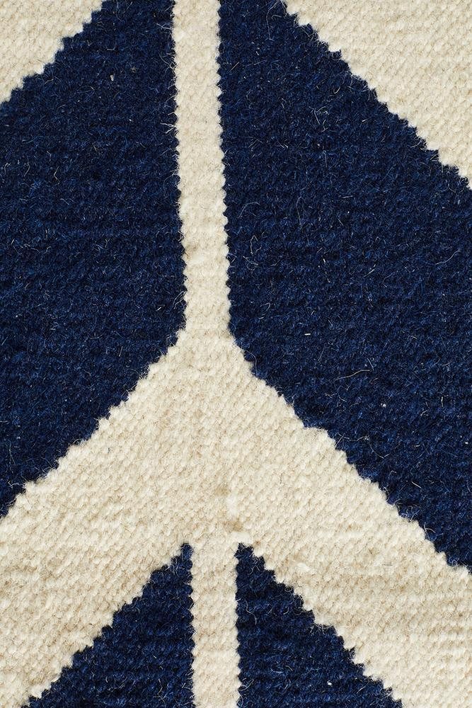 Nomad Pure Wool Flatweave 30 Navy Runner