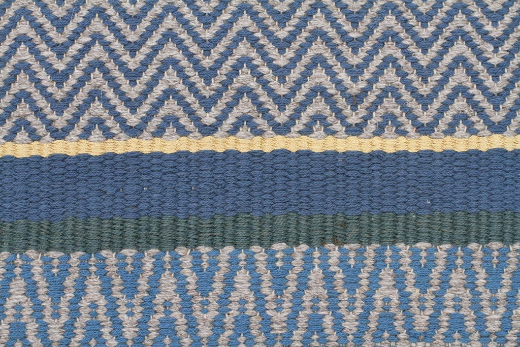 Nordic Sky dream Wool Viscose Flat woven Blue Rug