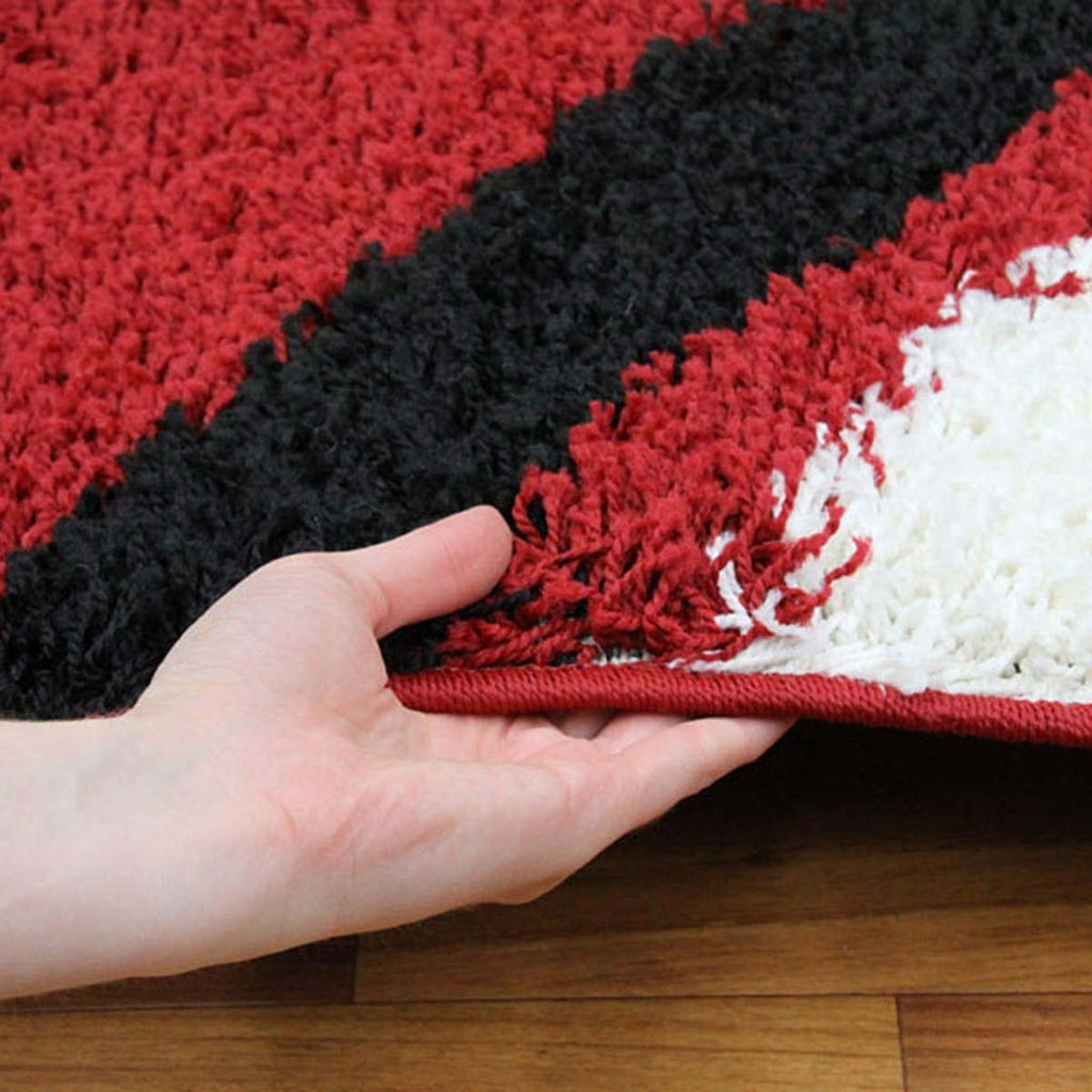 Notes Collection 3 Red And Black Rug