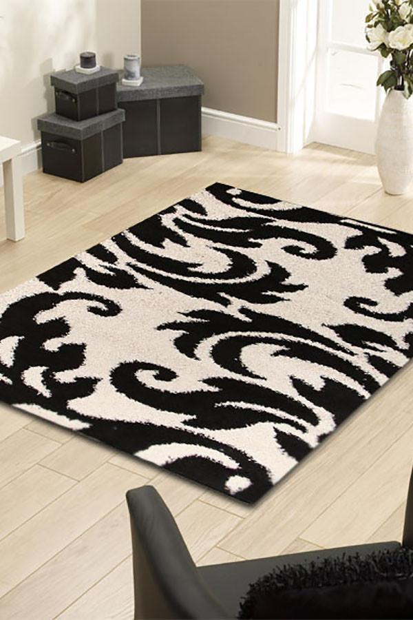 Notes Collection 5 Black And White Rug