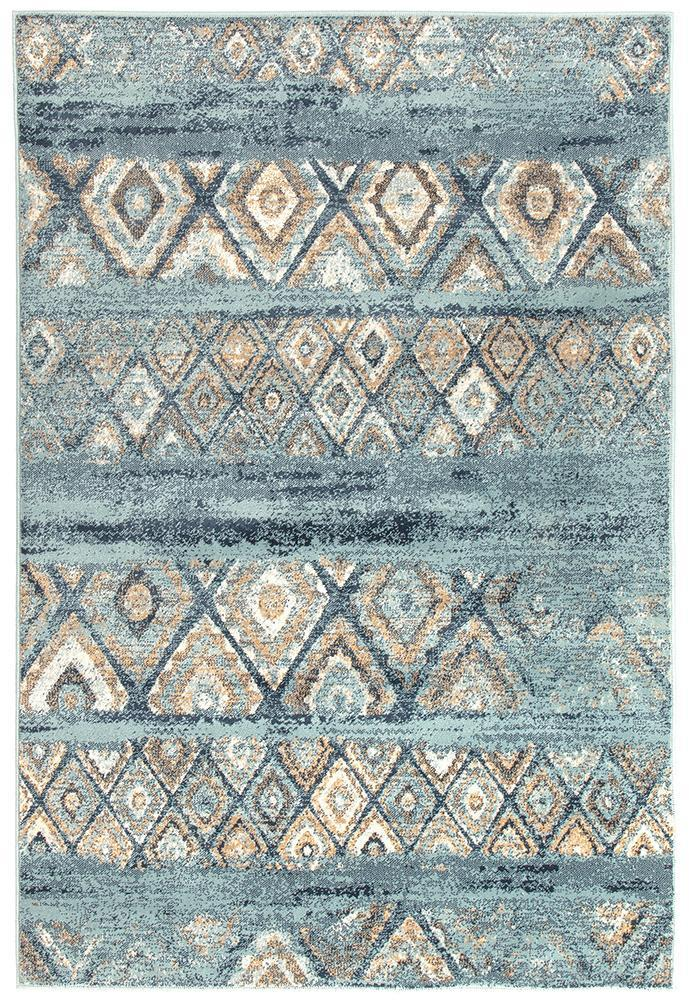Oxford Mayfair Contrast Blue Rug