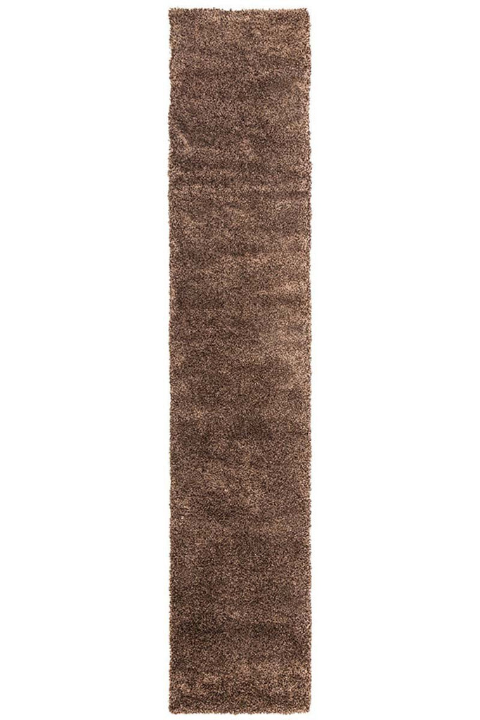 Pandora Collection Thick Soft Polar Brown Shag Rug