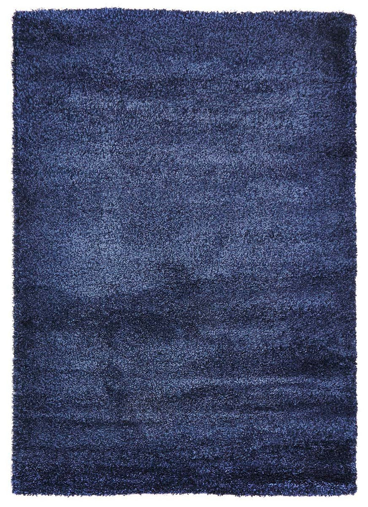 Pandora Collection Ultra Thick Super Soft Denim Shag Rug