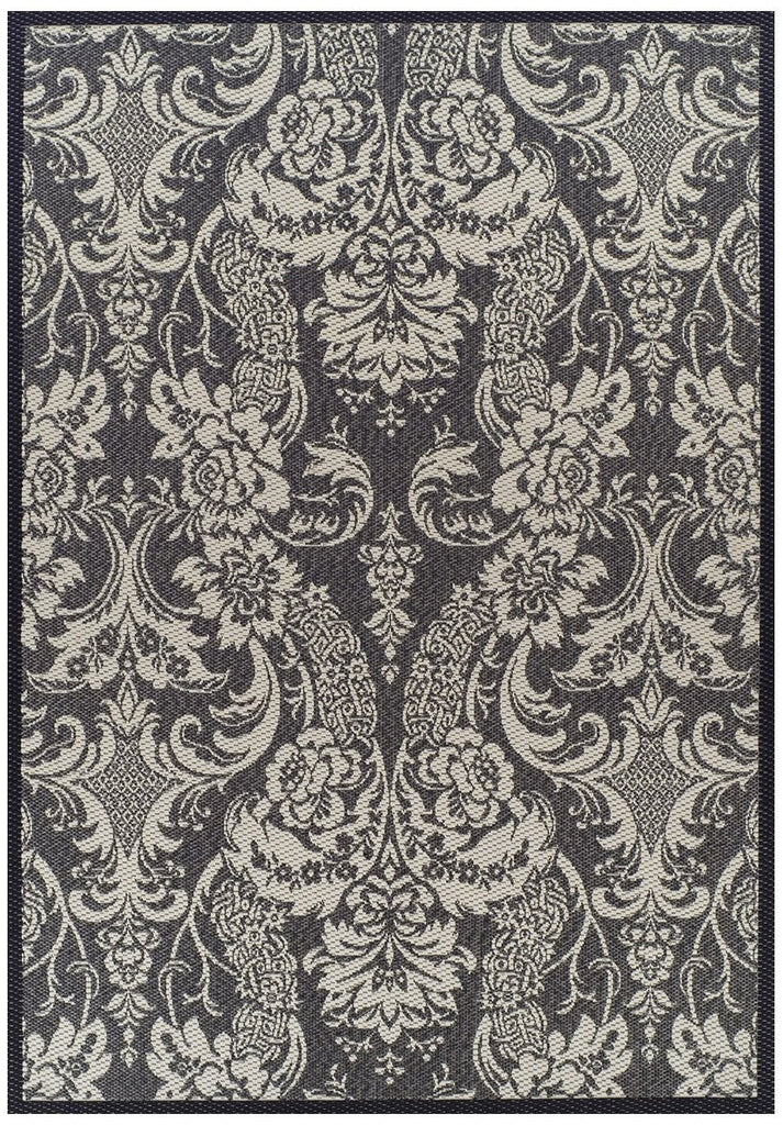 Pavilion Indoor Outdoor 2285 Grey Cream Rug