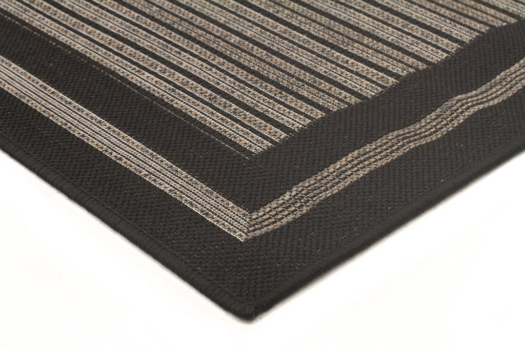 Starry Night Indoor Outdoor Modern Black Rug