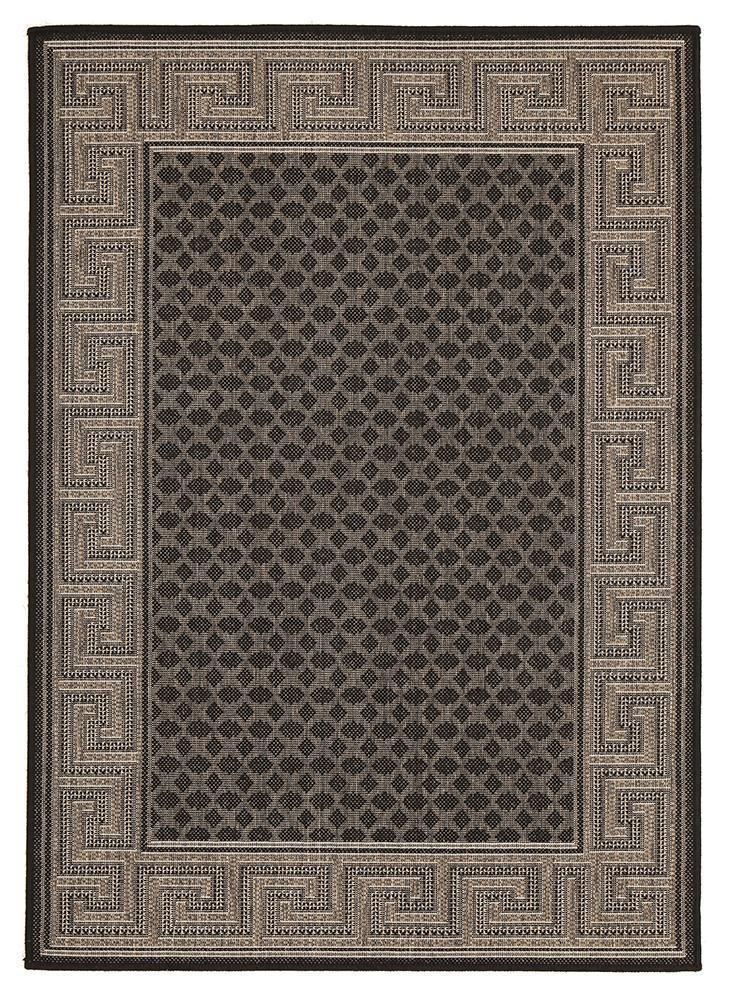 Night Indoor Outdoor Modern Black Rug