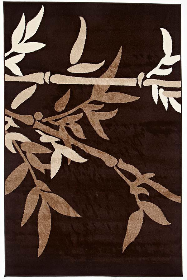 Swift Modern Zen Bamboo Design Rug Brown