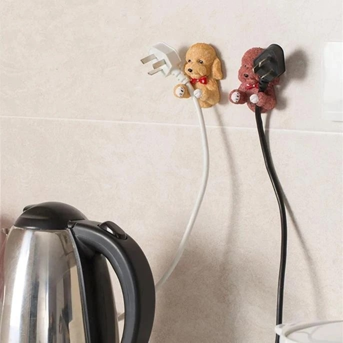 Image of a Cockapoo and Goldendoodle wall plug holders