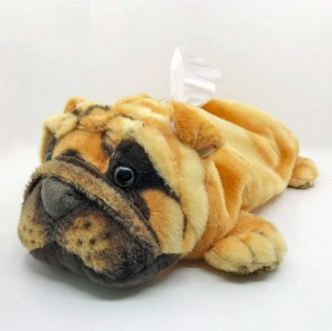 Image of a tissue holder in the shape of a cute looking English Bulldog