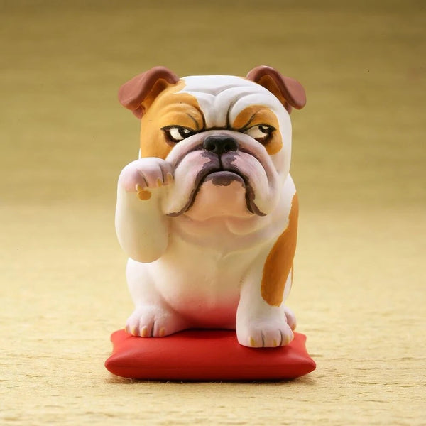 Image of an English Bulldog Figurine or desktop ornament made of PVC