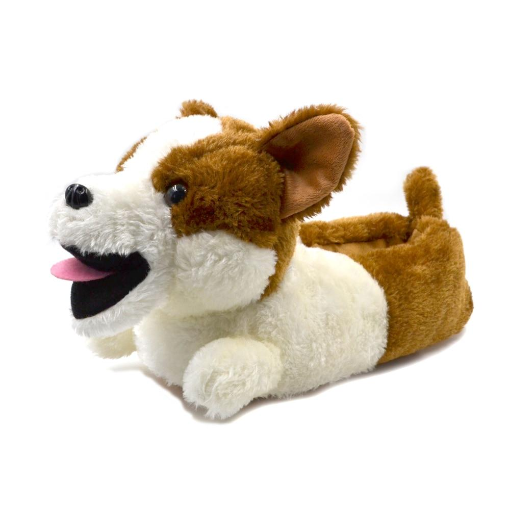 3D Corgi Love Warm Indoor SlippersSlippersCorgi11