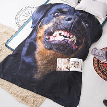 Load image into Gallery viewer, Doggo Shaped Warm Throw BlanketHome DecorGrowling RottweilerLarge
