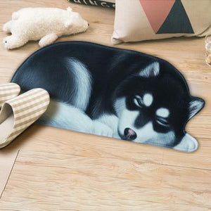 Sleeping Dogs Shaped Doormat / Floor RugMatAlaskan MalamuteSmall