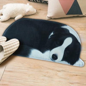 3D Sleeping Dog Shape Floor Mat Mat iLoveMy.Pet Border Collie 2.8 x 1.3 feet