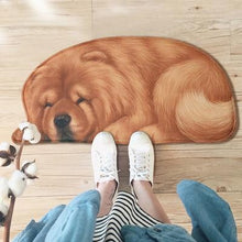 Load image into Gallery viewer, Sleeping Dogs Shaped Doormat / Floor RugMatChow ChowSmall