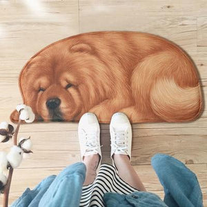 3D Sleeping Dog Shape Floor Mat Mat iLoveMy.Pet Chow Chow 2.8 x 1.3 feet