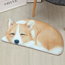 Load image into Gallery viewer, Sleeping Dogs Shaped Doormat / Floor RugMatCorgiSmall