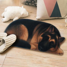 Load image into Gallery viewer, 3D Sleeping Dog Shape Floor Mat Mat iLoveMy.Pet German Sheoherd 2.8 x 1.3 feet