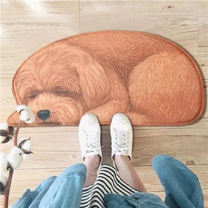Sleeping Dogs Shaped Doormat / Floor RugMatPoodleSmall